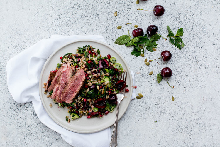 Cherry & Pomegranate Tabouli with Lamb