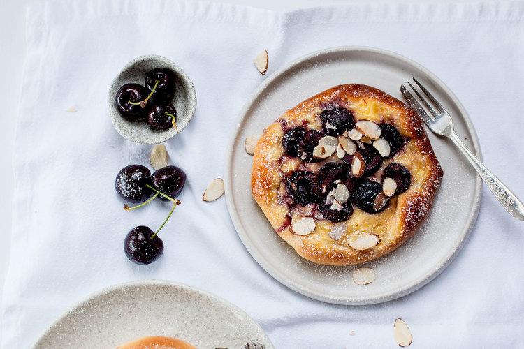 Cherry & Vanilla Custard Brioche