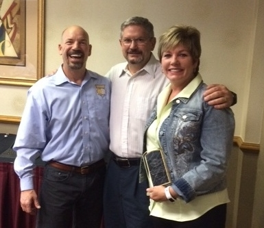 (L to R) pbca president jon denney, doug christy, wendy lydon