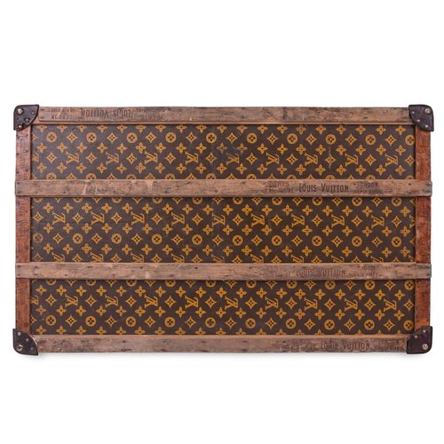 PUSHKIN ANTIQUES - ANTIQUE 20thC RARE LOUIS VUITTON MONOGRAM MID-SIZE TRUNK  c.1910 d40e60a187a9