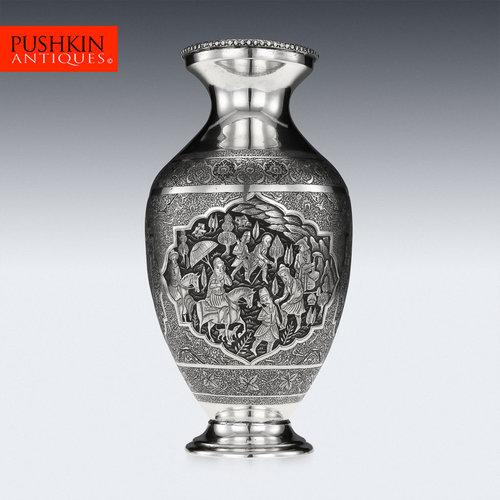 Pushkin Antiques Antique 20thc Rare Persian Islamic Lahiji Solid