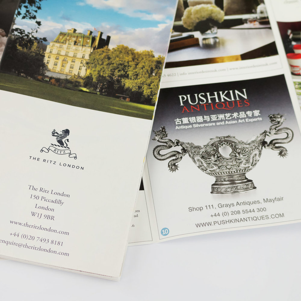 ritz london pushkin antiques advertising