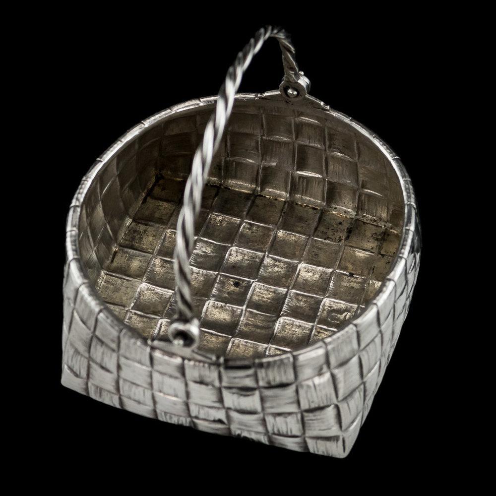 1900s Russian Silver Basket Silver