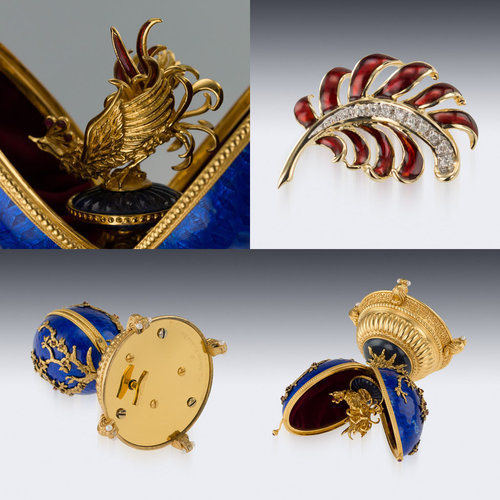 brooch lot eye ti quotbeequot faberge decorated view with width bee a s and diamond en tiger
