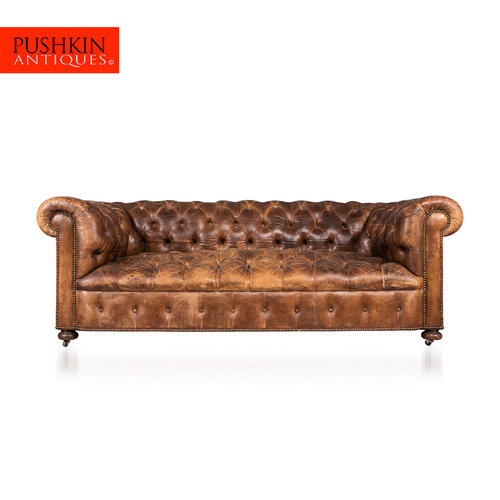 Pushkin Antiques Antique 20thc Edwardian Superb Chesterfield