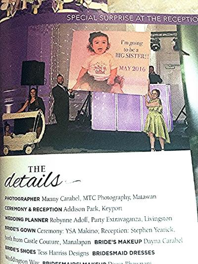 "NJ BRIDE MAGAZINE - JWOWW Wedding - January 2016 - ""Bride's Makeup"" credit - pages 167-169"