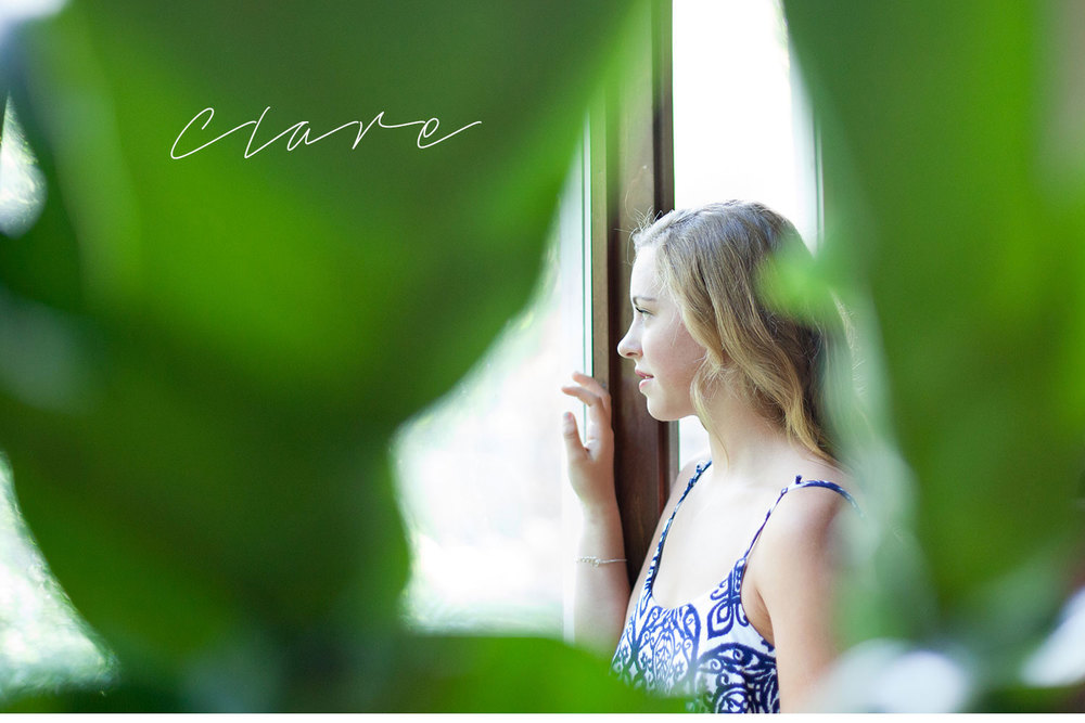 You've Got Flair | Clare's Garden Summer Senior Session, Looking Out The Window, Senior 2015