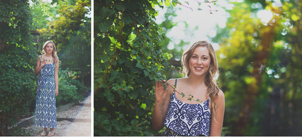 You've Got Flair | Clare's Garden Summer Senior Session, Clare & Ivy, Senior 2015