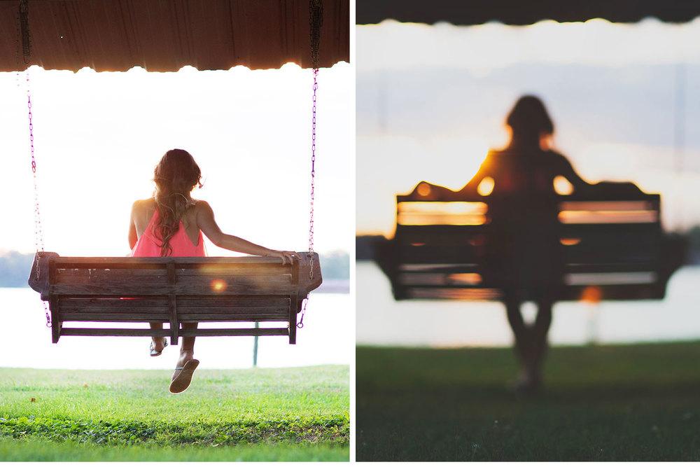 You've Got Flair | Clare's Garden Summer Senior Session, Clare Swinging At Sunset, Senior 2015