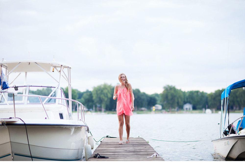 You've Got Flair | Clare's Garden Summer Senior Session, Clare At Boat Dock, Senior 2015