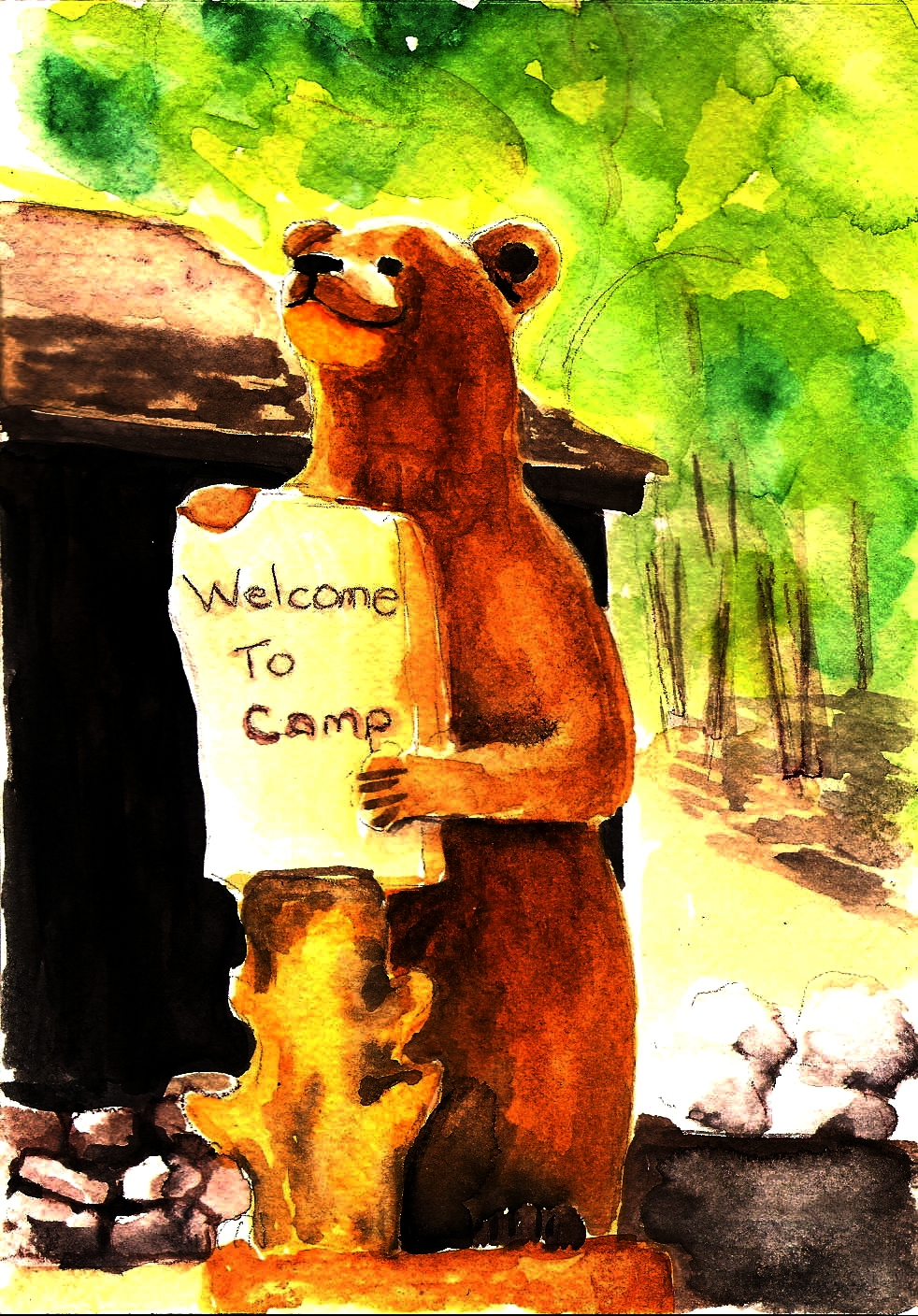 4 CARD NOTECARD SET - CAMP DE BENNEVILLE PINESAvailable at Camp Store