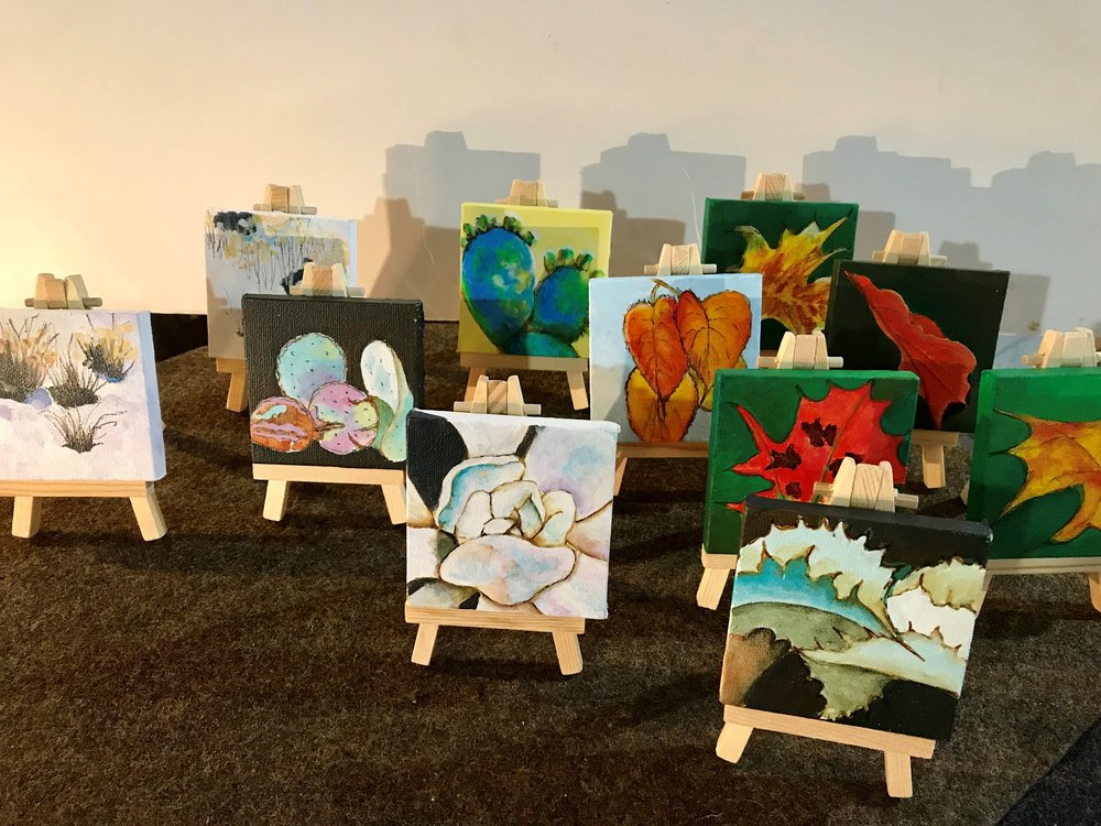 TINY PAINTINGS - ON TINY EASELSAVAILABLE AT SPECTACULAR DESIGN