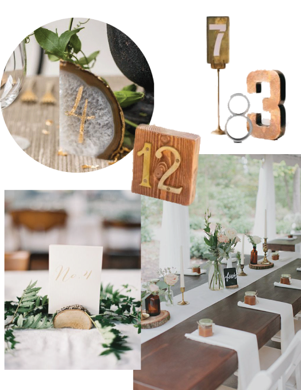 Image sources from top left:  Sarah Winward | Martha Stewart Weddings | Style Me Pretty | 100 Layer Cake