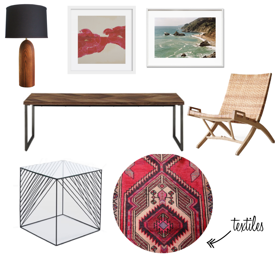 LAMP    ||    ARTWORK   ||    COFFEE TABLE   ||   SIDE CHAIR   ||   END TABLE    ||   RUG