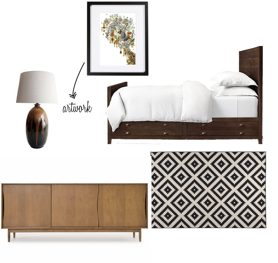 ARTWORK    ||    LAMP    ||   BED FRAME   ||    CREDENZA   ||   RUG