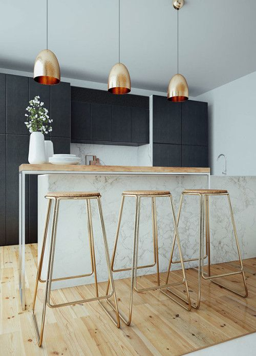Design Navy Marble Copper Kitchen Sunday S Arrow
