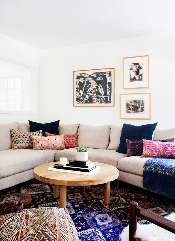 How Stunning Are These Colorful Rugs?! I Love The Idea Of Bringing A Bright  Or Bold Color Down To The Floor, Allowing For The Sofa To Act As A Blank  Canvas ...