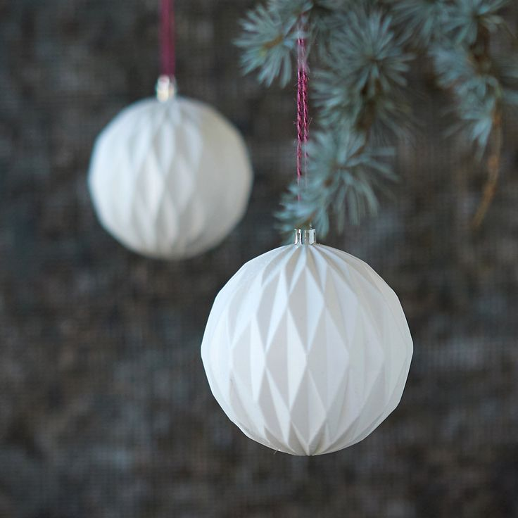 Geometric Globe Ornament Set