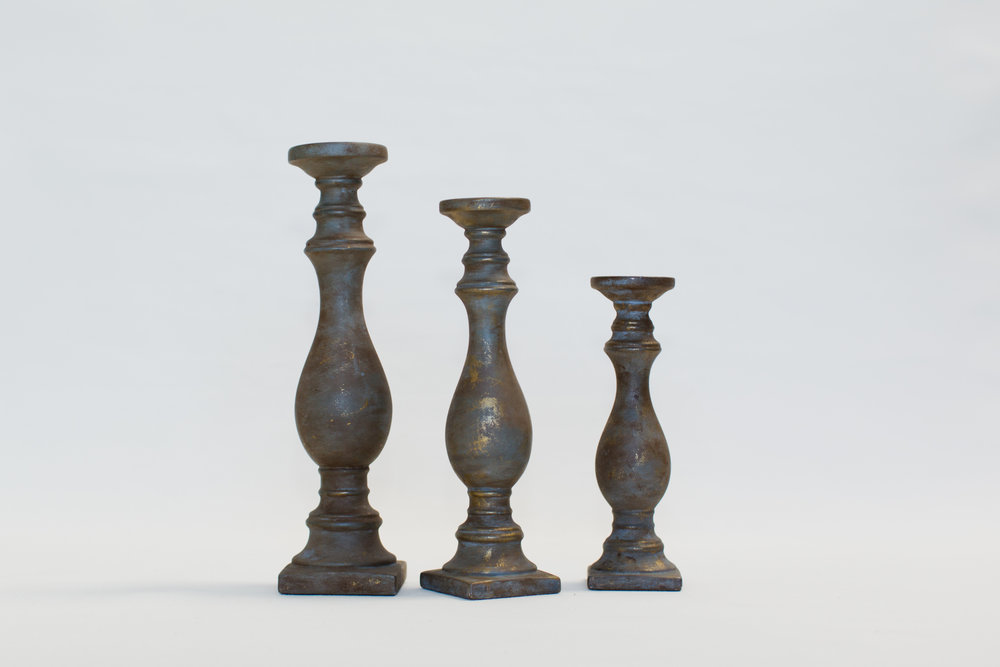Antiqued Candlesticks