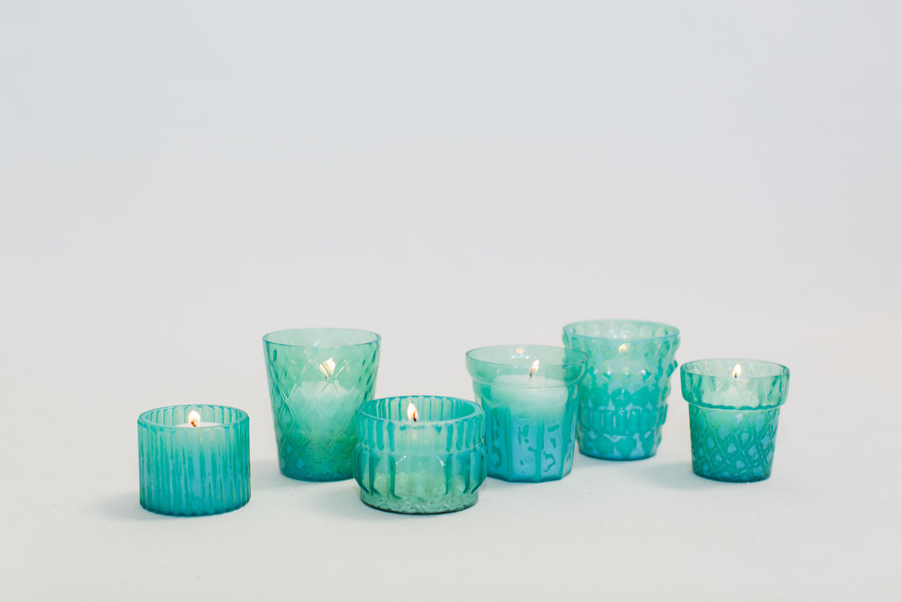 Blue Green Votives