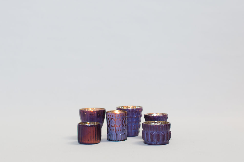 Purple Mercury Glass Votives