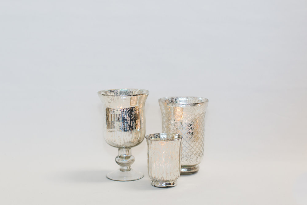 Large Silver Mercury Glass