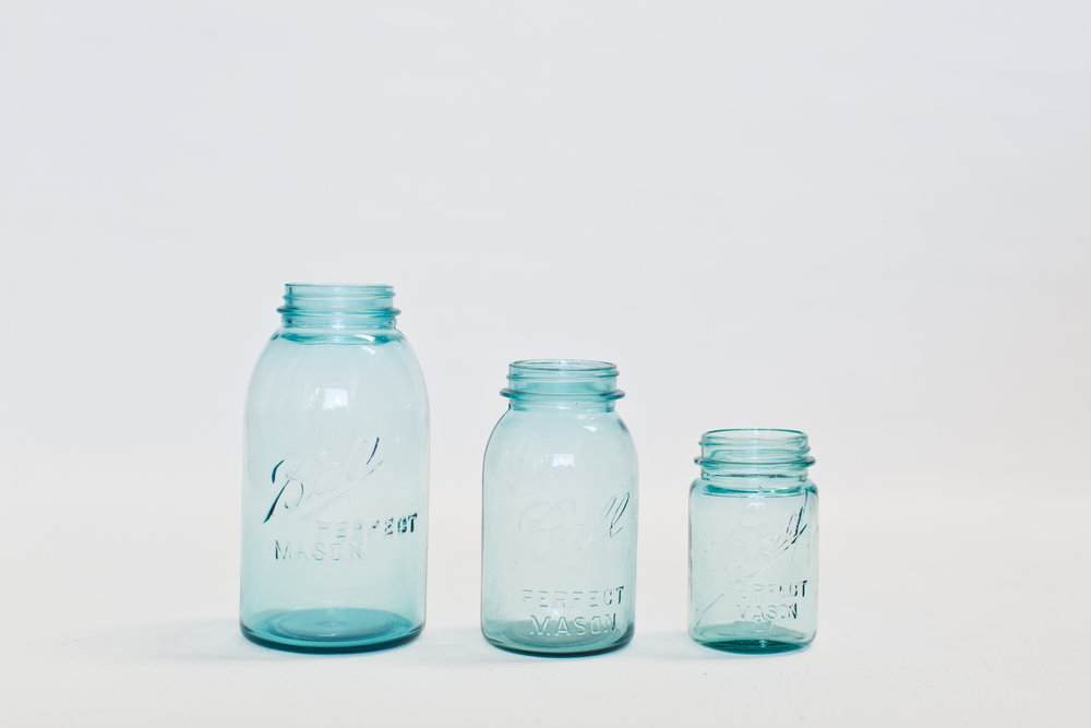 Blue Vintage Ball Jars