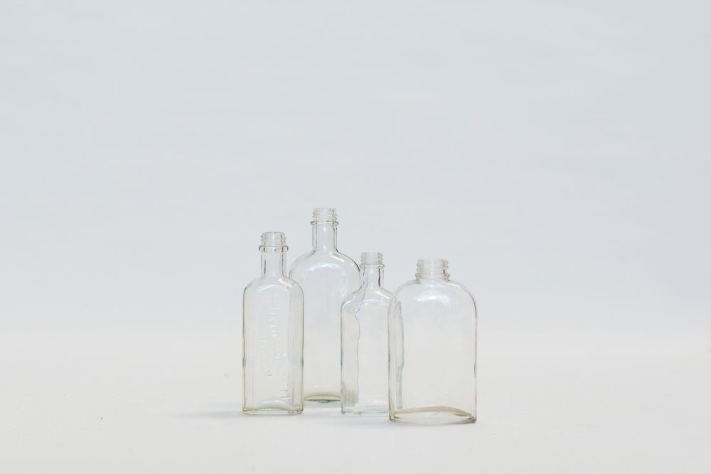 Vintage Apothecary Clear Bottles