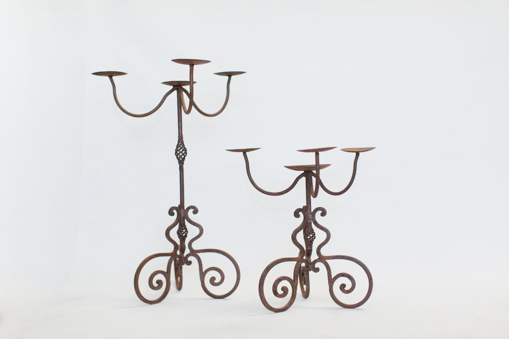 Iron Table Top Candelabras