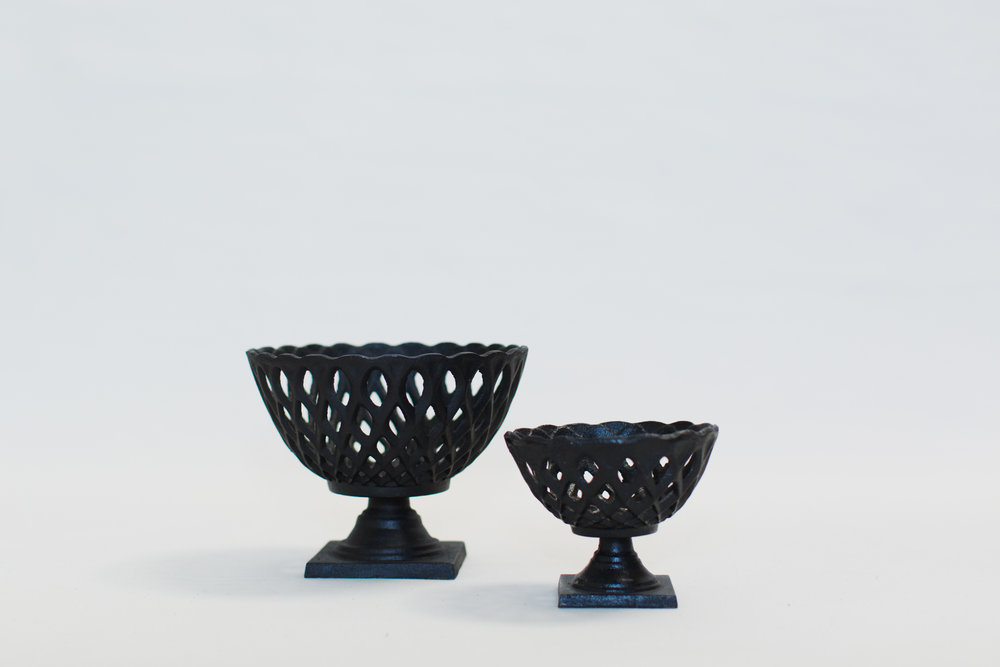 Black Iron Compote Bowls