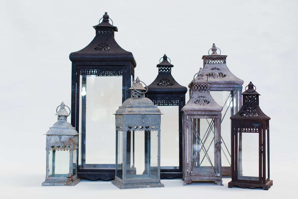 Metal Lanterns - Assorted Sizes & Colors