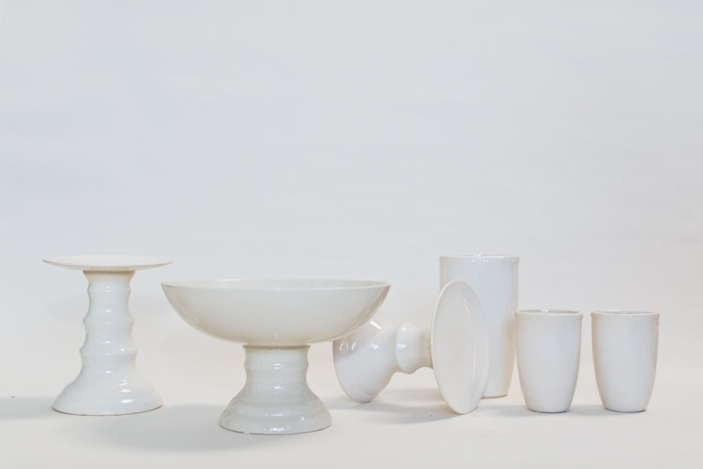Assorted Cream Ceramics