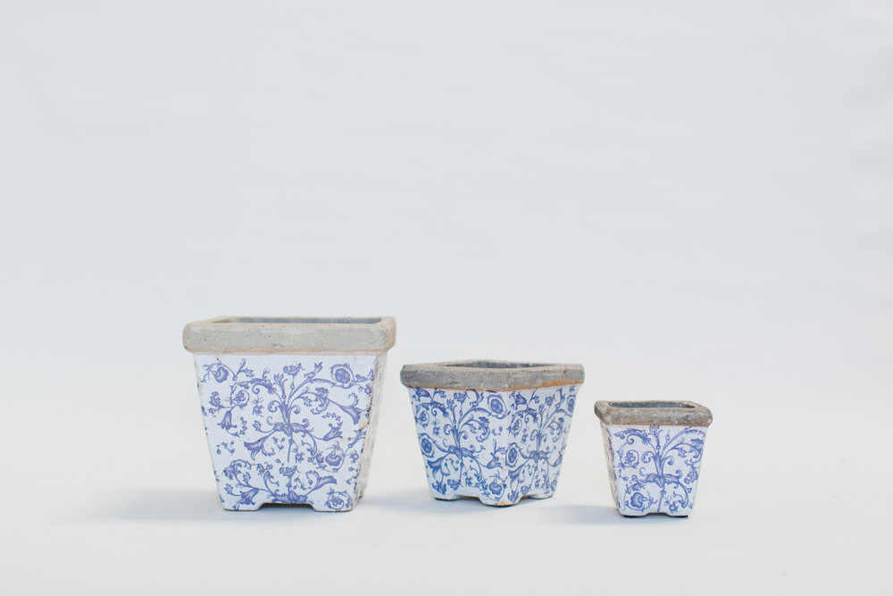 Blue & White Garden Ceramics
