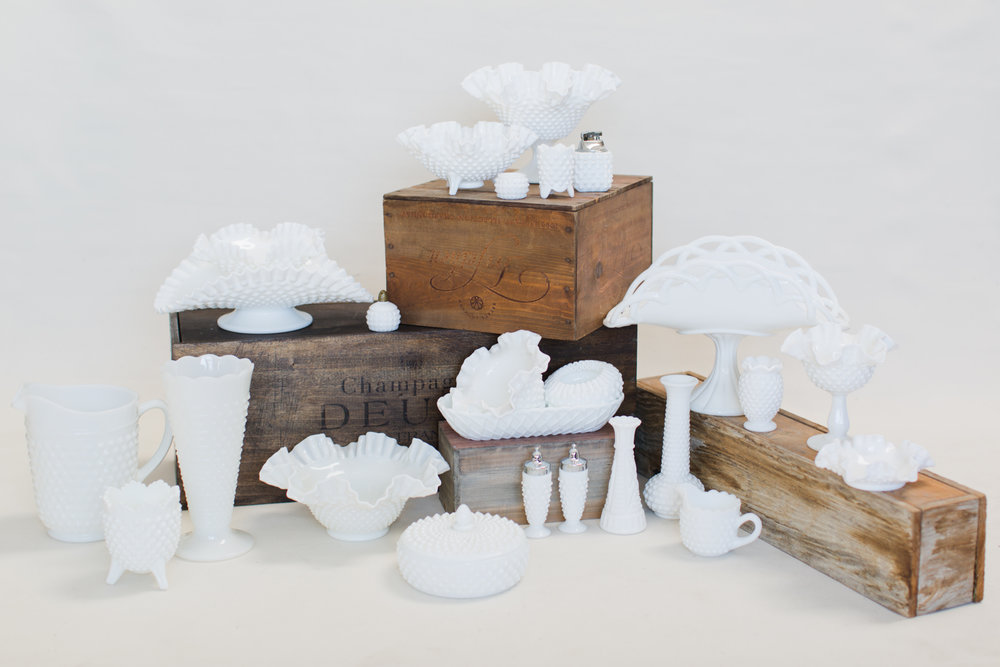 Authentic Milk Glass Collection