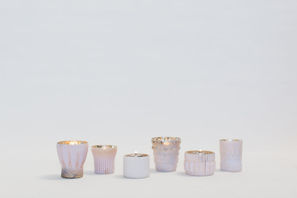 Blush Mercury Glass Votives
