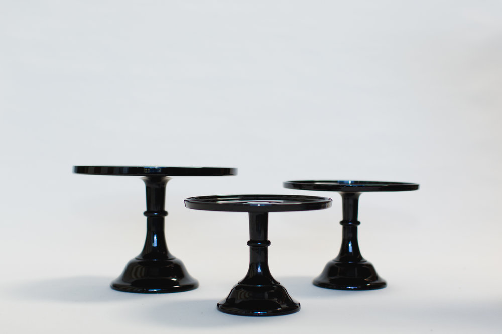 Black Glass Cake Stands