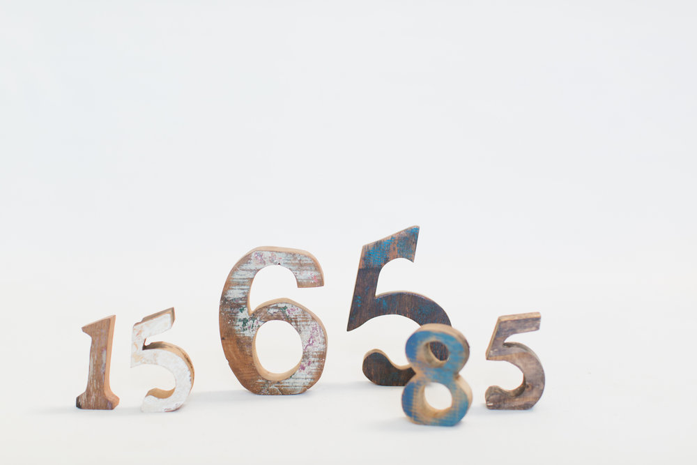 Stand Alone Wood Table Numbers