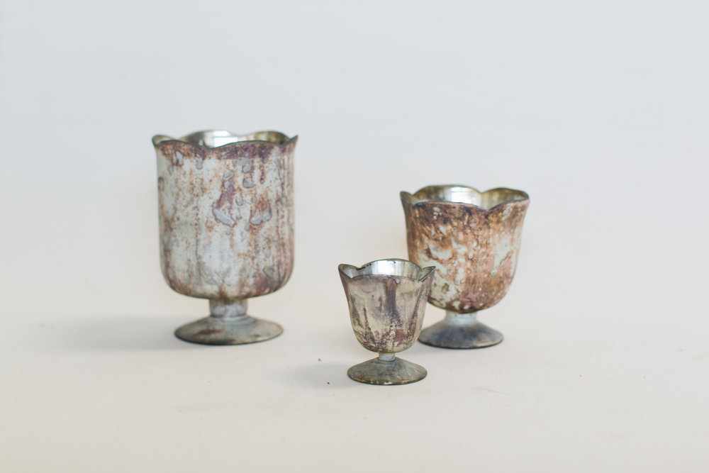 Marbled Glass Vessels
