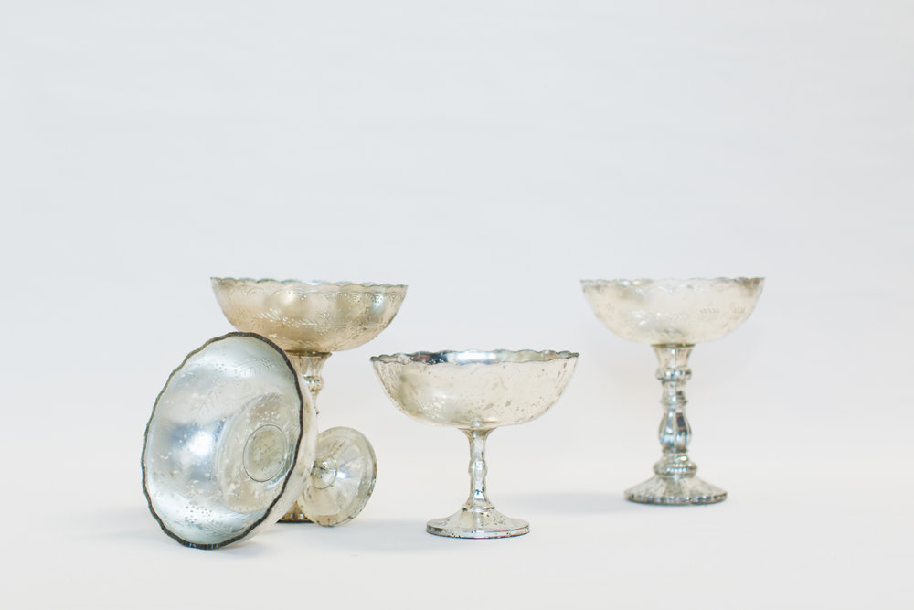 Mercury Glass Compote Bowls