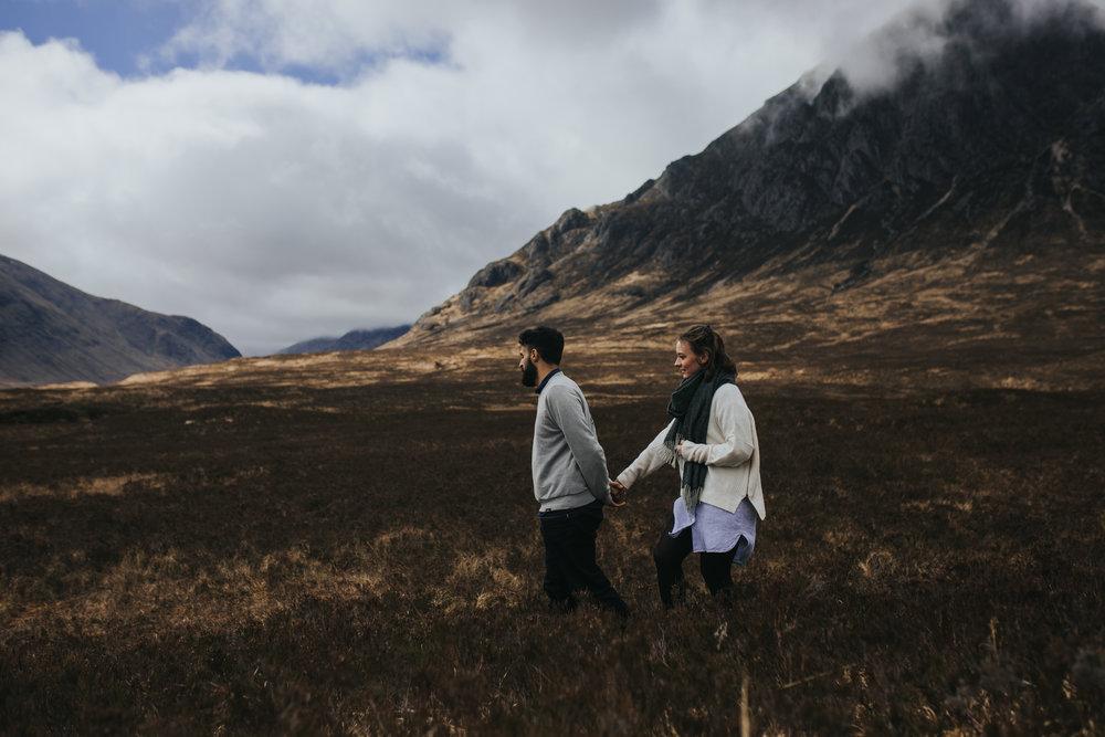 Glencoe engagement walk