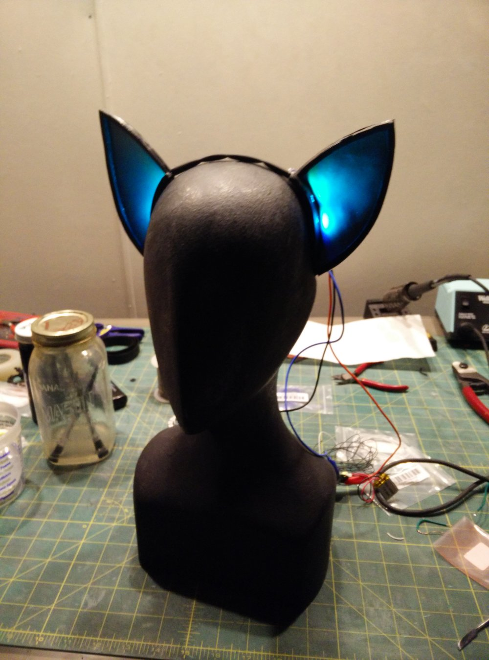 LED ears blue