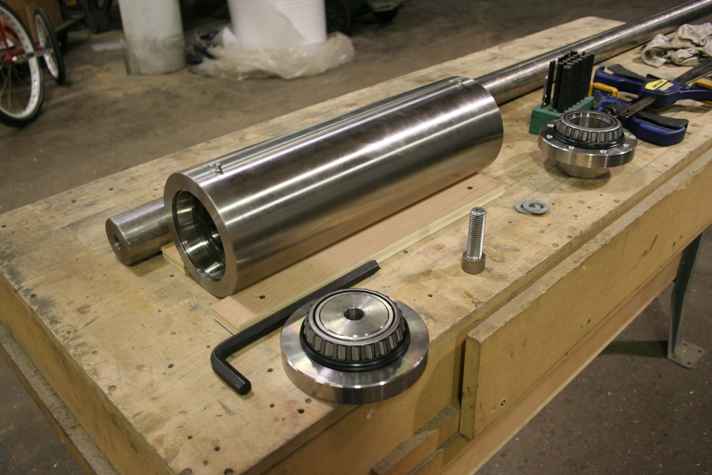 We designed and fabricated this entire system, and the machined parts were done on our Haas turning center.
