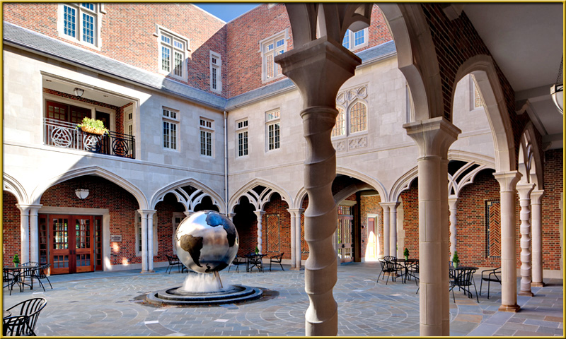 The Monumental Globe at the Carole Weinstein International Center at University of Richmond.    (photo by Taylor & Parrish)