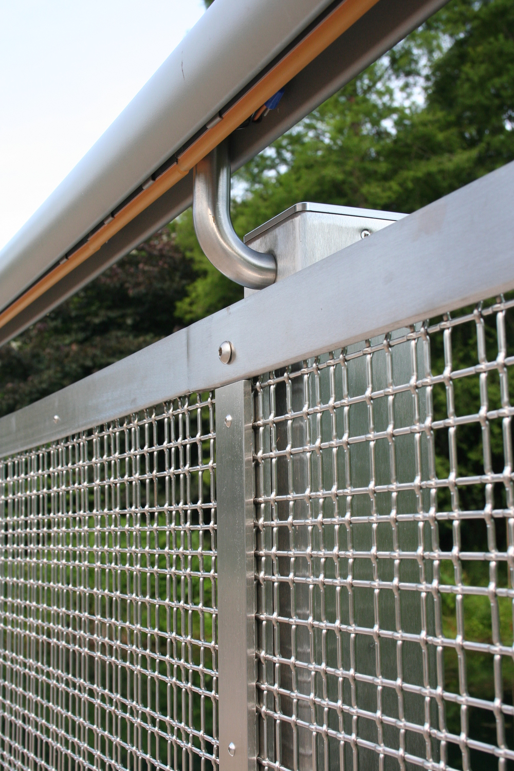 Our extrusion allowed for a custom LED light system to be integrated into the underside of the guard rail.