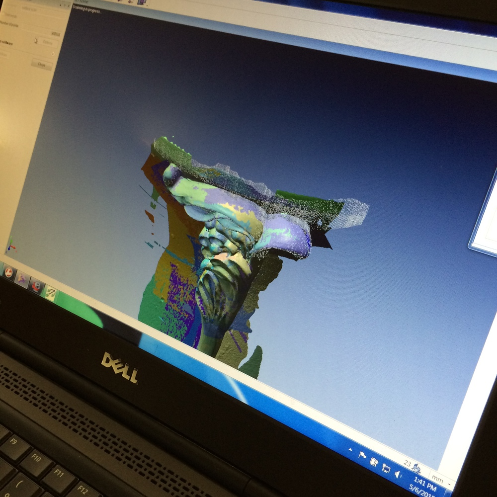 The digital scans provide the data we will import into our modeling software, which will translate it into a program of machining.