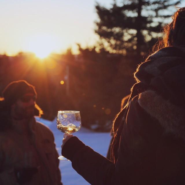 Après-ski style les Amis Réunis #massif #ski #nature #wine #winelove