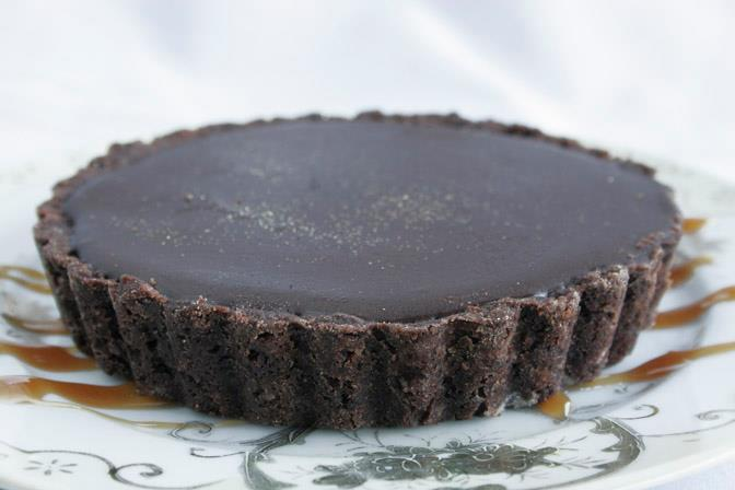 caramel chocolate tart