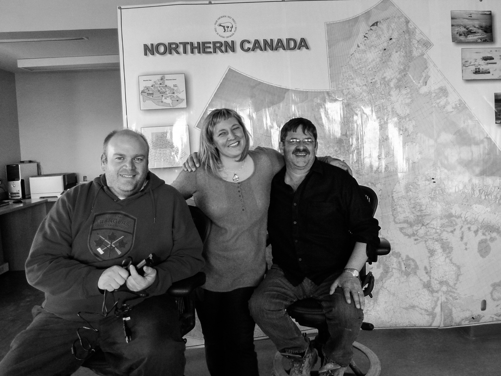 Mike Kristjansen, Jodi McGregor, Glenn Parsons - workhorses of the Arctic, widely considered to be the ultimate logistics coordinators in remote and challenging environments