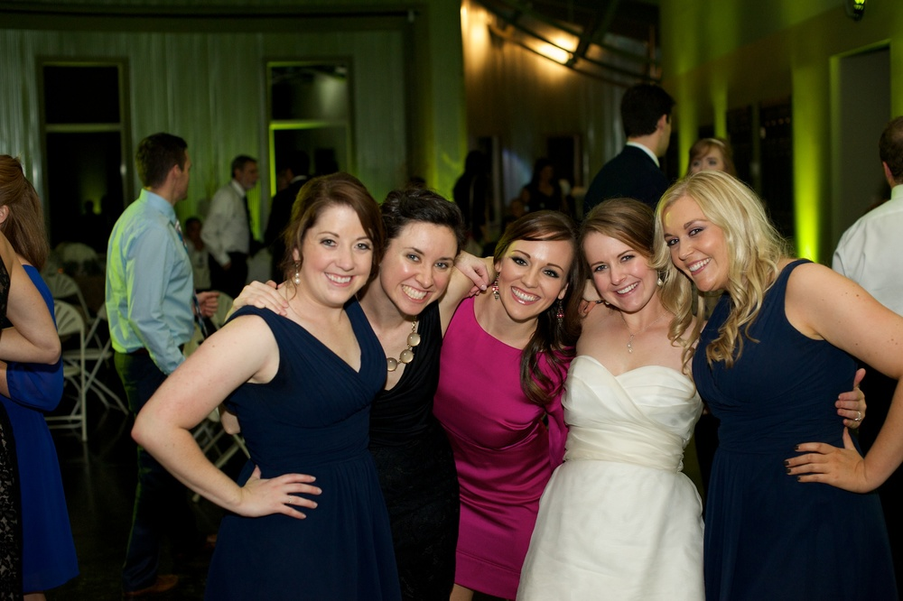College pals at Christina's wedding. Weddings make the best reunions.