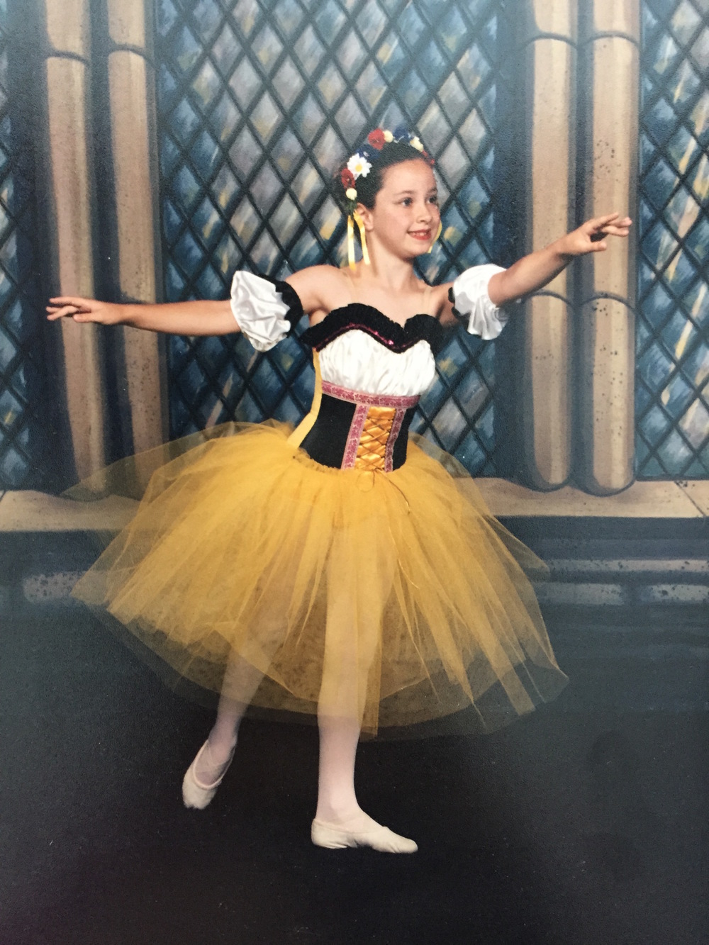 Me, circa 1997, for the Laurel Ballet School's performance of Sleeping Beauty.